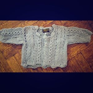 Hand knit Infant pullover sweater
